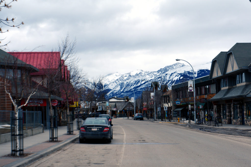 Jasper v Kanadě v době viru