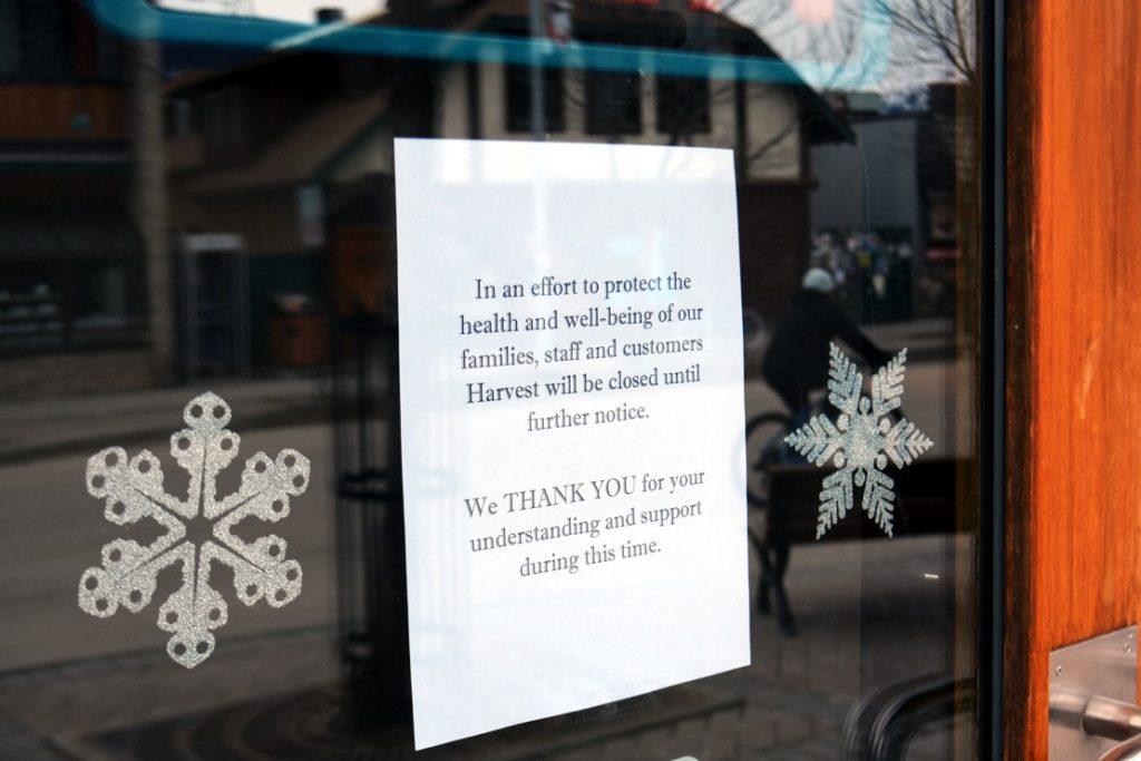Zavření restaurací v Kanadě v době viru