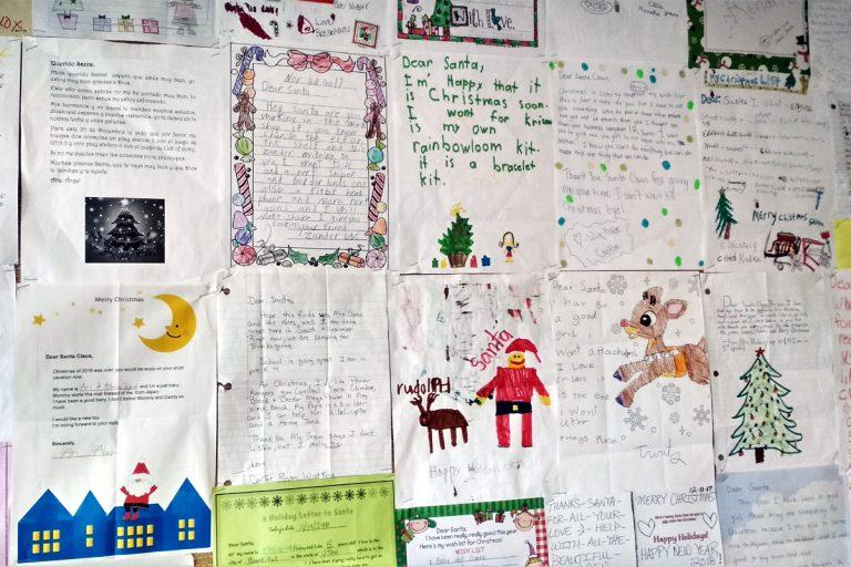 Dopisy pro Santu od dětí