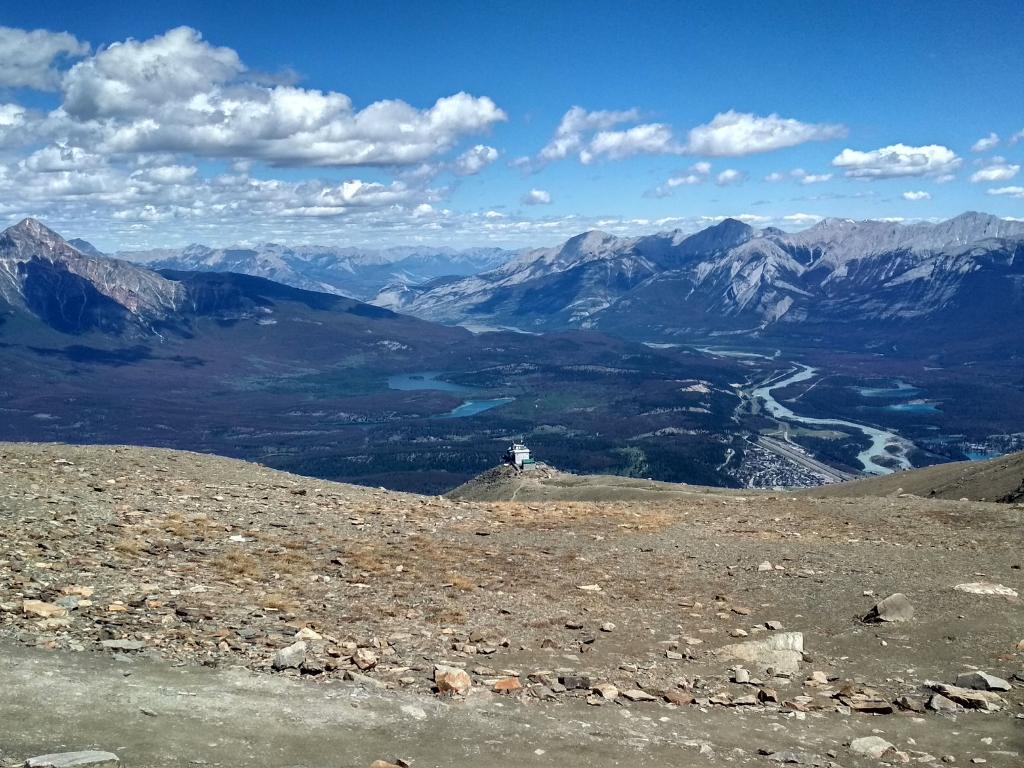 Letní výhled z Whistlers Mt.